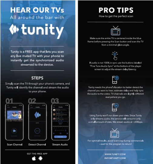 Gyms TV audio solution   Tunity